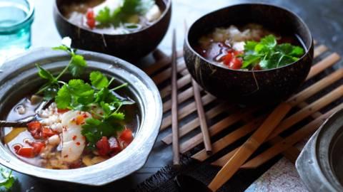 Люта супа с риба и ориз