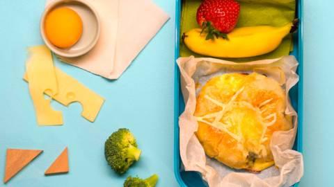 Баничка с броколи, сирене и ементал