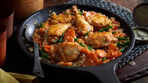 Джолоф ориз - доматен ориз с пиле