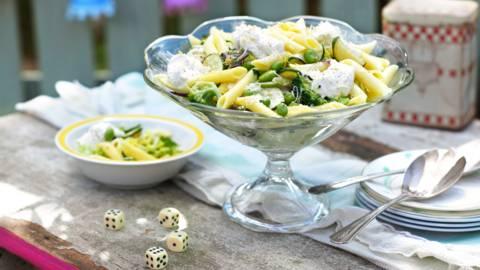 Пене с италиански зеленчуци и лимонова рикота