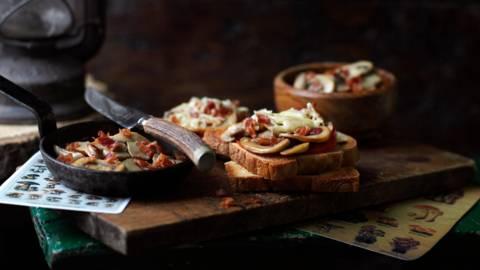 Бързи тостове с гъби