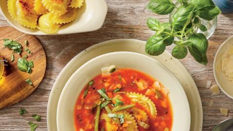 Пържени панцероти със зеленчукова супа