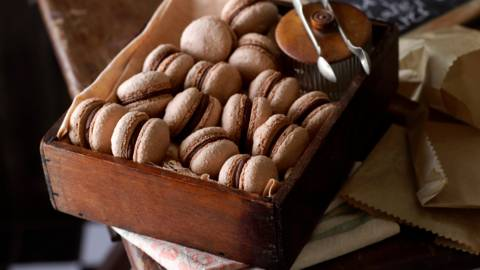 Френски макарони с пълнеж от шоколад