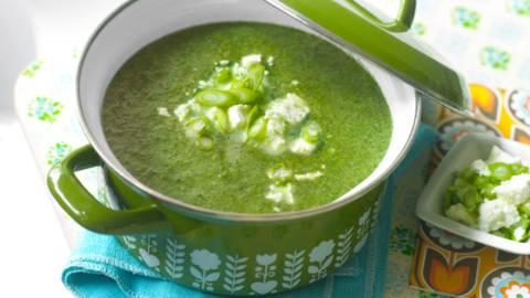 Спаначена супа със сирене Фета