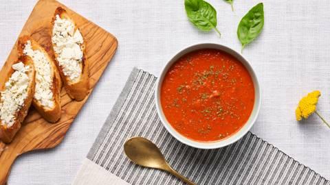 Крем супа от печени домати