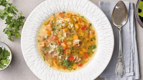 Супа от гъска и есенни зеленчуци