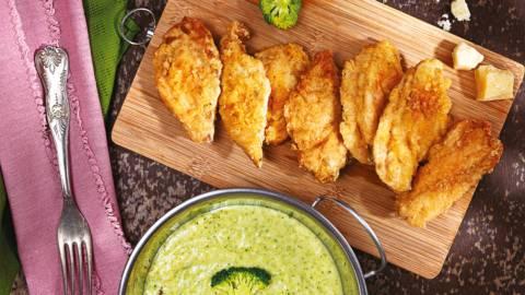 Пиле пиката с пюре от броколи