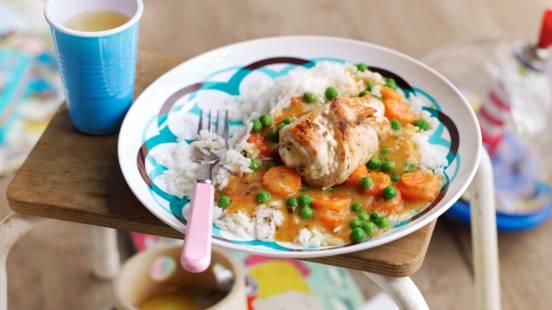 Пуешки рулца със зеленчуци и ориз