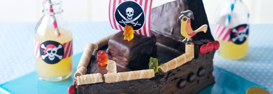 Пиратски кораб (шоколадов сладкиш)