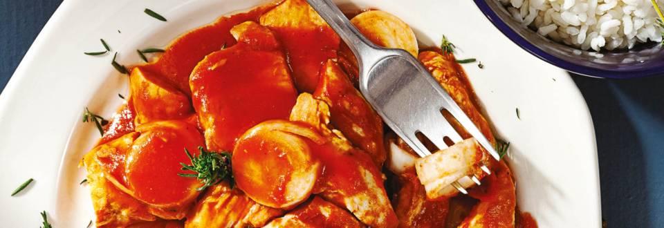Пилешка кавърма с маслен ориз