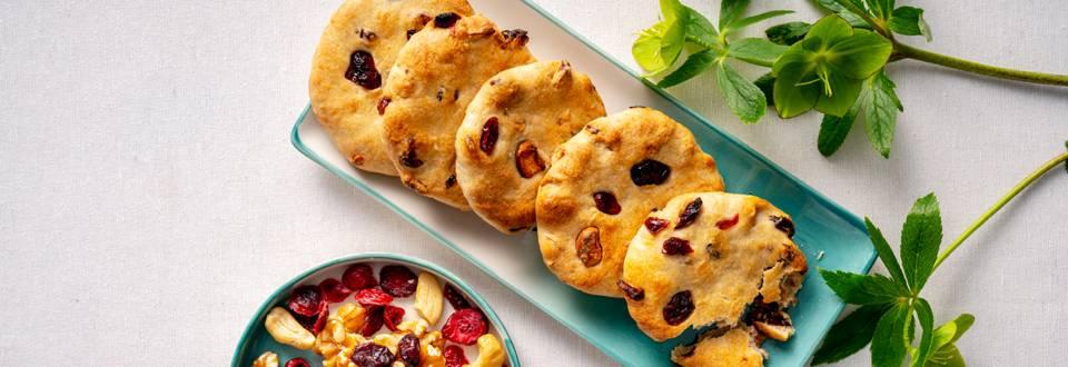 Бисквити с кашу и червени боровинки – по рецепта на шеф Шишков