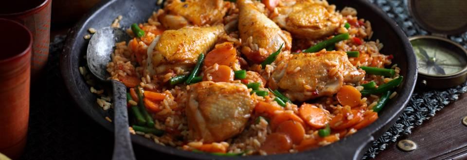 Джолоф ориз – доматен ориз с пиле