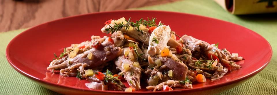 Маринован заек със зеленчуци