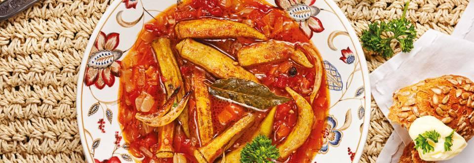 Бамя с доматен сос