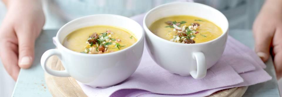 Индийска къри супа с топинг