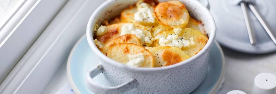 Картофена запеканка с тиквички и маслини