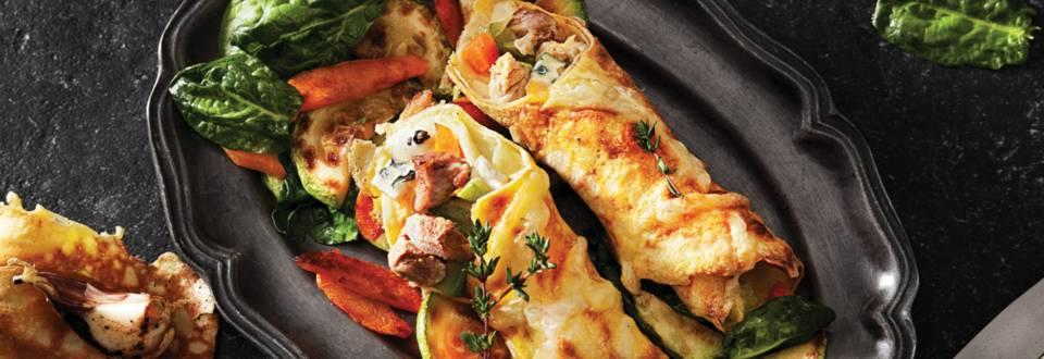 Палачинка със свинско месо и четири сирена