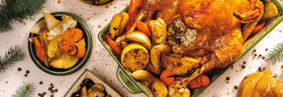 Пълнена пуйка за Коледа рецепта от село Овча Могила
