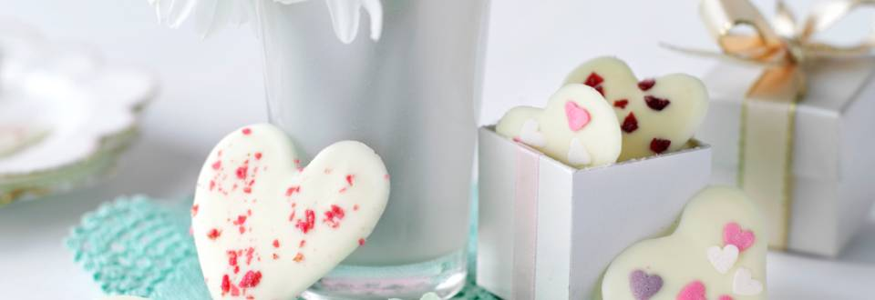 Бели шоколадови сърца