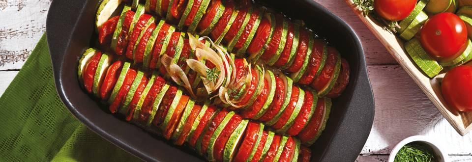 Рататуй от тиквички и чери домати
