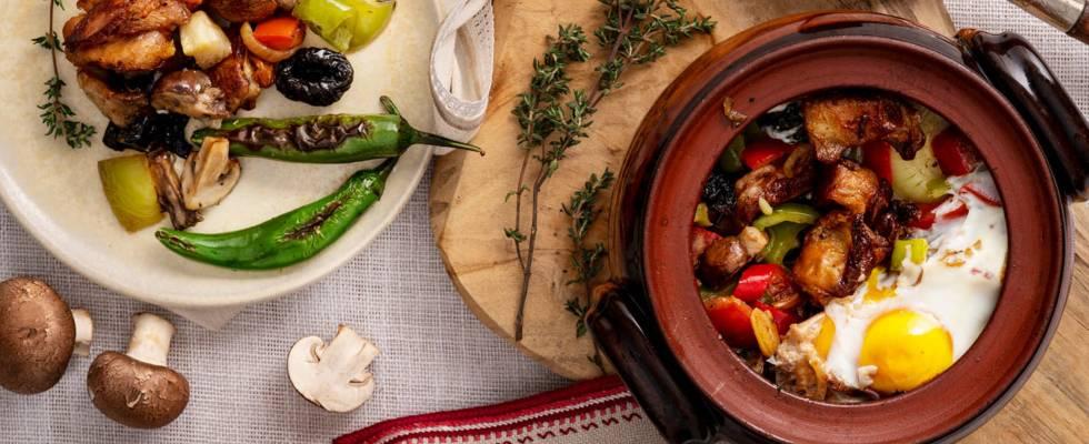 Агнешки котлети със зеленчуци в гювеч
